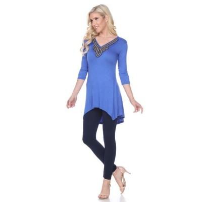 ホワイトマーク レディース シャツ トップス Women's Tonya Embellished Tunic top
