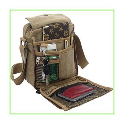 Men's Canvas Small Messenger Bag Casual Shoulder Bag Chest Bag Travel Carry Bag,Multi-pocket Purse Handbag Crossbody Bags,Vintage Lightweigh
