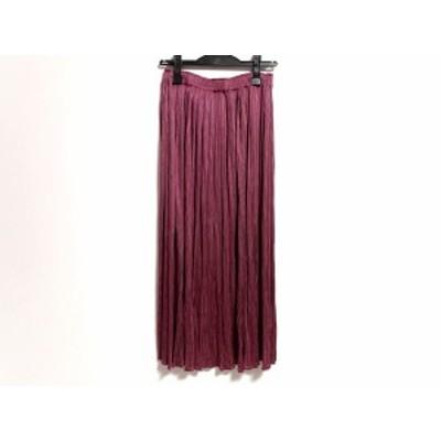 プリーツプリーズ PLEATS PLEASE ロングスカート サイズ4 XL レディース 美品 ピンク プリーツ【中古】20200623