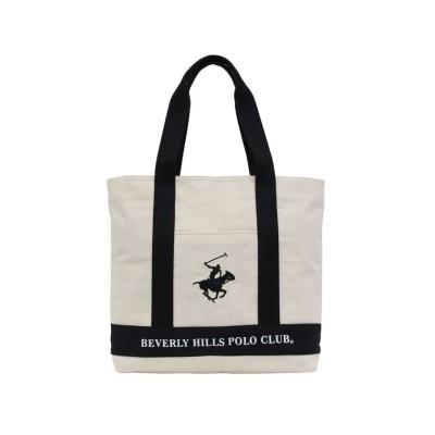【ビバリーヒルズポロクラブ】 キャンバストートバッグ ユニセックス アイボリー系 F BEVERLY HILLS POLO CLUB