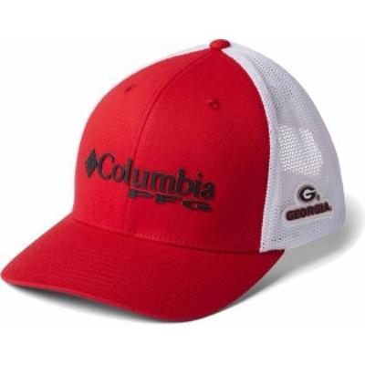 コロンビア メンズ 帽子 アクセサリー Columbia Men's Georgia Bulldogs Red PFG Mesh Fitted Hat -