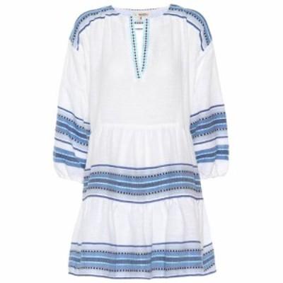 レムレム Lemlem レディース ワンピース ワンピース・ドレス Welela cotton-blend mini tunic dress Blue C1