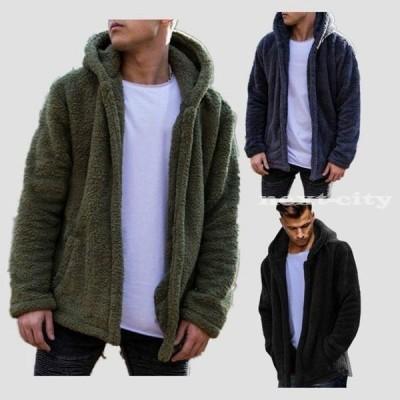 ファーコート メンズ フェイクファーコート アウター ジャケット 秋冬 新作 防寒 もこもこ 暖かい 毛皮コート