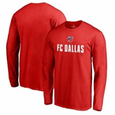 Fanatics Branded ファナティクス ブランド スポーツ用品  Fanatics Branded FC Dallas Red Shielded Long Sleeve T-Sh
