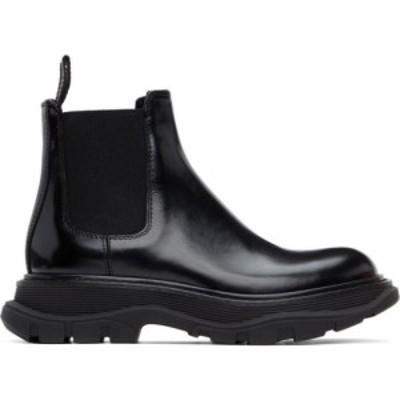 アレキサンダー マックイーン Alexander McQueen レディース ブーツ チェルシーブーツ シューズ・靴 Black Tread Slick Chelsea Boots Bl