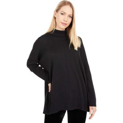 リラピー Lilla P レディース ニット・セーター タートルネック トップス Oversized Turtleneck Sweater Black
