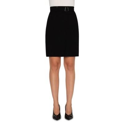 アクリス レディース スカート ボトムス Wool Double-Face Faux Wrap Skirt