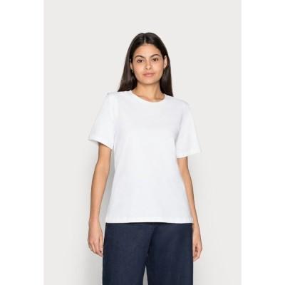 イー ディ シー バイ エスプリ Tシャツ レディース トップス CRISPY - Basic T-shirt - white