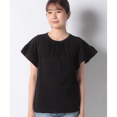 【シスレー】 ドレープパターンTシャツ・カットソー レディース ブラック S (国内M相当) SISLEY