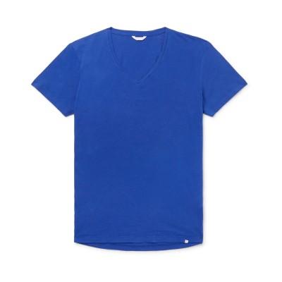 オールバー ブラウン ORLEBAR BROWN T シャツ ブルー L コットン 100% T シャツ