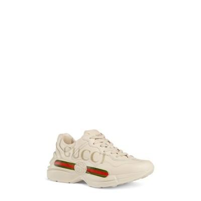 グッチ GUCCI レディース スニーカー シューズ・靴 Rhyton Logo Sneaker Ivory