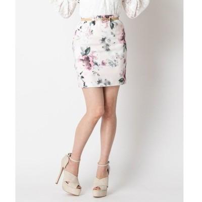 スカート 花柄ミニスカート