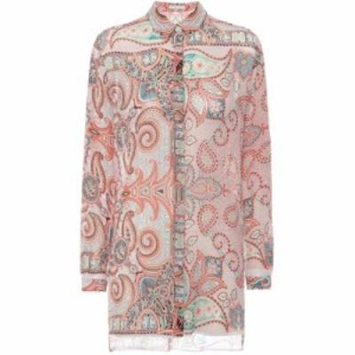 エトロ Etro レディース ブラウス・シャツ トップス Printed silk shirt