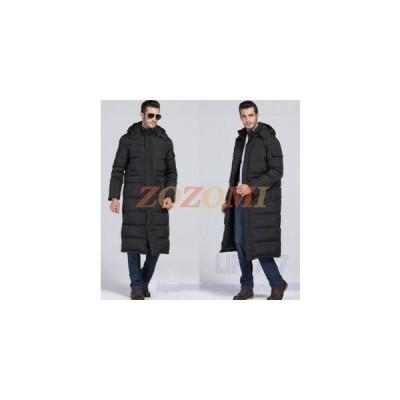 ダウンコートメンズダウンジャケットロングフード付きベンチコートファー付きアウター大きいサイズ