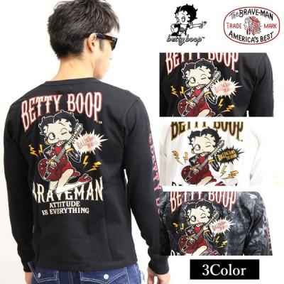 天竺長袖Tシャツ THE BRAVEMAN×BETTY BOOP bbb-2035[20_aw]