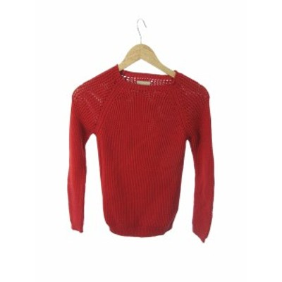 【中古】ラネウス LANEUS セーター ニット 長袖 42 赤 レッド /SI34