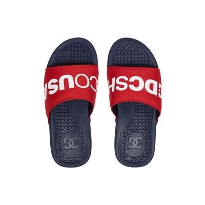 サンダル ディーシーシューズ DC Shoes Men's Bolsa SP Slipper Slider Sandals Navy Blue Red Beach Summer