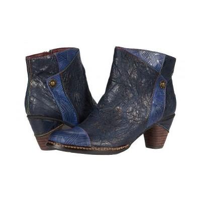 L'Artiste by Spring Step ラーティスト レディース 女性用 シューズ 靴 ブーツ アンクル ショートブーツ Waterlily - Navy Multi