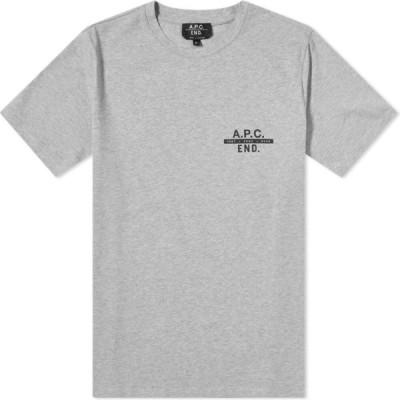 アーペーセー A.P.C. メンズ Tシャツ トップス pietro tee Grey Melange