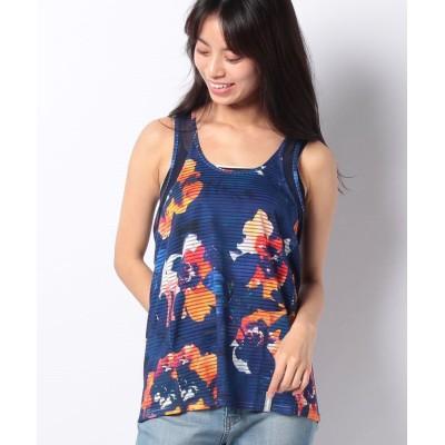 【デシグアル】 Tシャツ レディース ブルー系 L Desigual