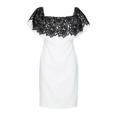 BADGLEY MISCHKA ミニワンピース&ドレス ホワイト 4 ポリエステル 95% / ポリウレタン 5% ミニワンピース&ドレス