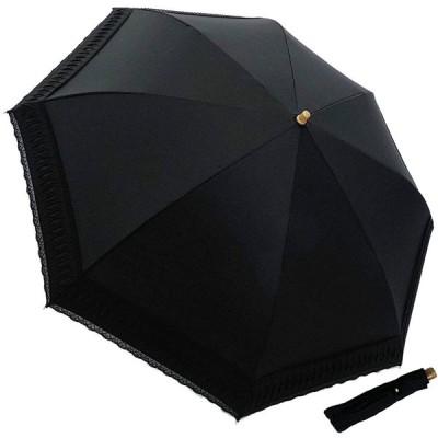 マサキ-折りたたみ傘-無地Xエンブレース-UV防止加工付き-573501(ブラック)