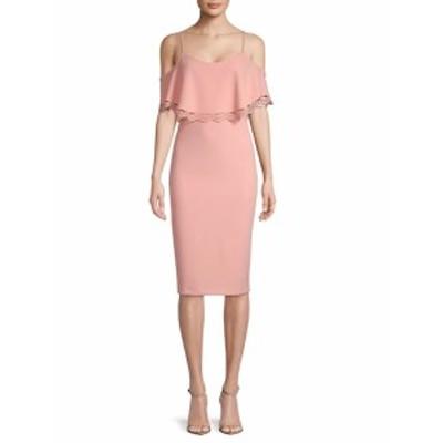 ナネットレポー レディース ワンピース Short Sleeve Cold Shoulder Dress