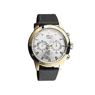 【新品未使用品】Daniel Steiger Prestige Multi-Function Luxury Leather Gold Watch - 10ATM Wa【並行輸入品】