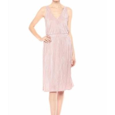 Rachel Roy レイチェルロイ ファッション ドレス Rachel Rachel Roy NEW Pink Womens 14 Plisse Ribbon-Waist A-Line Dress