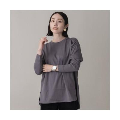 【エウクレイド】 綿天竺ロングスリーブTシャツ レディース グレー F EUCLAID