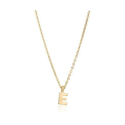 """1928 Jewelry Gold-Tone 7mm Initial """"E"""" Pendant Necklace, 20""""送料無料"""