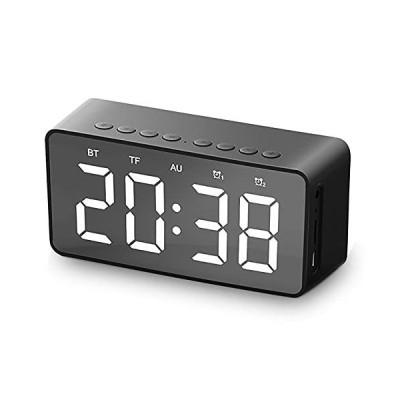 限定価格Alarm Clock Radio,Mirror Clock LED Display with Bluetooth Speaker/Snooze Function/Dual Alarms/USB Charging Port,for Home Decor,A