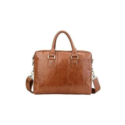バッグ メンズ New Men's Genuine Leather Briefcase Messenger Laptop Shoulder bag Handbag C046