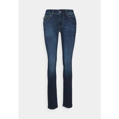 ペペジーンズ レディース スリム NEW BROOKE - Slim fit jeans - dark blue