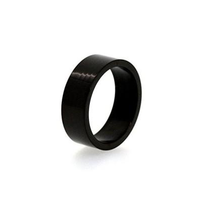 """N2 stone S-line シンプルブラック(黒)ステンレスリング""""選べるリングサイズと幅"""" / ペアリング/レディース&メンズ (幅8"""