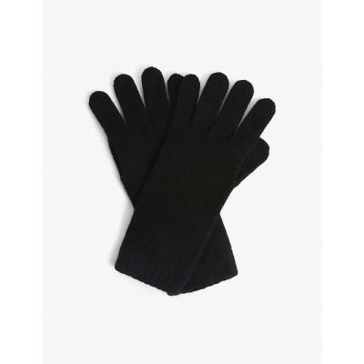 ジョンストンズ JOHNSTONS レディース 手袋・グローブ Cashmere gloves BLACK