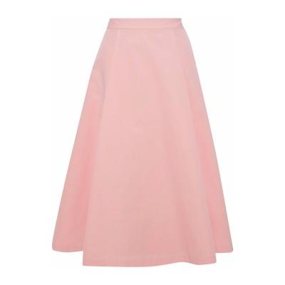 アリス・アンド・オリビア ALICE + OLIVIA 7分丈スカート ピンク 2 コットン 100% 7分丈スカート