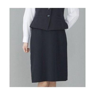 FS45801 フォーク オフィスウェア ウエストゴム Aライン スカート 女性用 ウエスト楽  ポケット付き ストレッチ