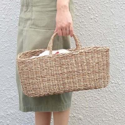 トートバッグ かごバッグ ジュートオーバルバッグ バスケットバッグ クレエ Creer 91930002  トレンド かご カゴ バッグ かごバッグ