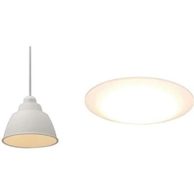 【セット買い】アイリスオーヤマ LEDペンダントライト LED電球セット Gammel Plas ホーロー調 Sサイズ ホワイト PL5L-E17PE