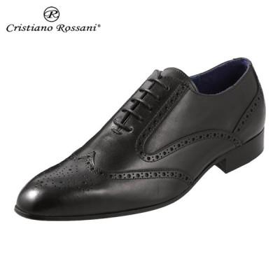 クリスチアーノ・ロザーニ Cristiano Rossani 1236 メンズ ビジネスシューズ ドレスシューズ ブラック 取寄