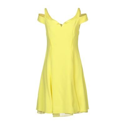 VERSACE ミニワンピース&ドレス イエロー 38 アセテート 74% / レーヨン 26% ミニワンピース&ドレス