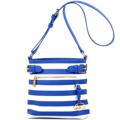 ダーザイン ハンドバッグ 財布 Dasein Faux Leather Striped Buckled Messager Bag