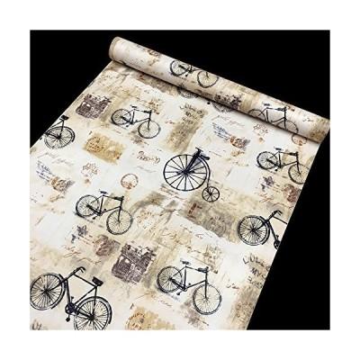 simplelife4u Shabby Chic Bikes Contact紙自己粘着シェルフライナー引き出しロッカーステッカー17.7インチby 9