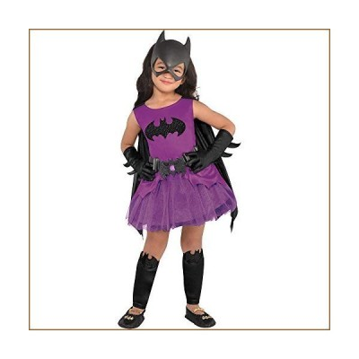 Suit Yourself Purple Batgirl Halloween Costume for Toddler Girls, Batman, 3-4T, Includes Dress, Cape, Mask, and More【並行輸入品】