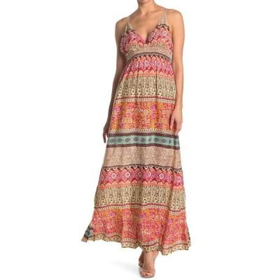 ラガ レディース ワンピース トップス Long Deep V-Camisole Dress MULTI
