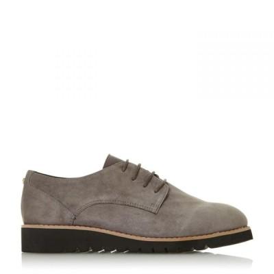 デューン Dune レディース シューズ・靴 レースアップ flinch mixed upper lace up shoes Grey