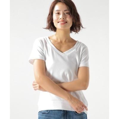 tシャツ Tシャツ シルキーフライス半袖VネックT