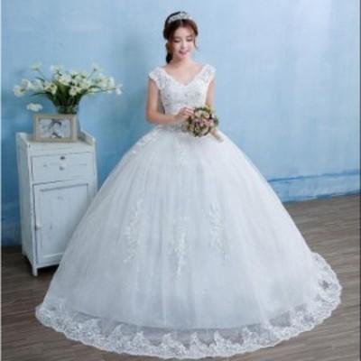 手作り セール 人気 結婚式 花嫁 パーティードレス プリンセスライン 素敵 ウエディングドレス ブライダル ワンピース 冠婚 ロング丈 綺