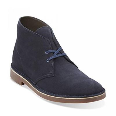 クラークス メンズ ブーツ Clarks Bushacre 2 Men's Leather Boots Navy/Marine 26106782